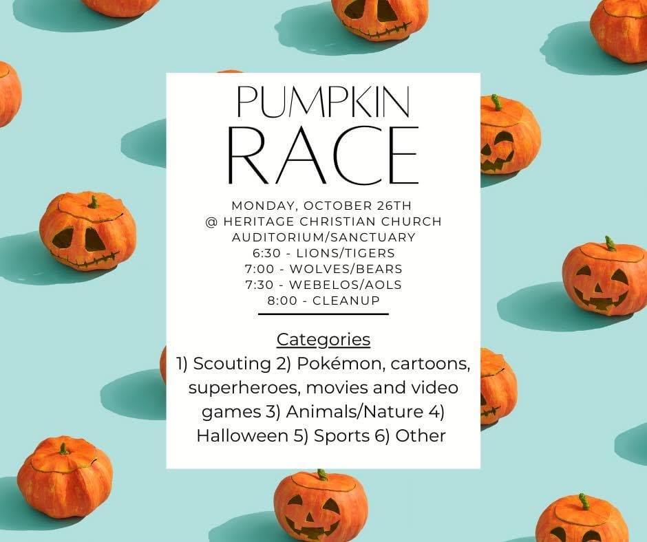 2020 Pumpkin Races!