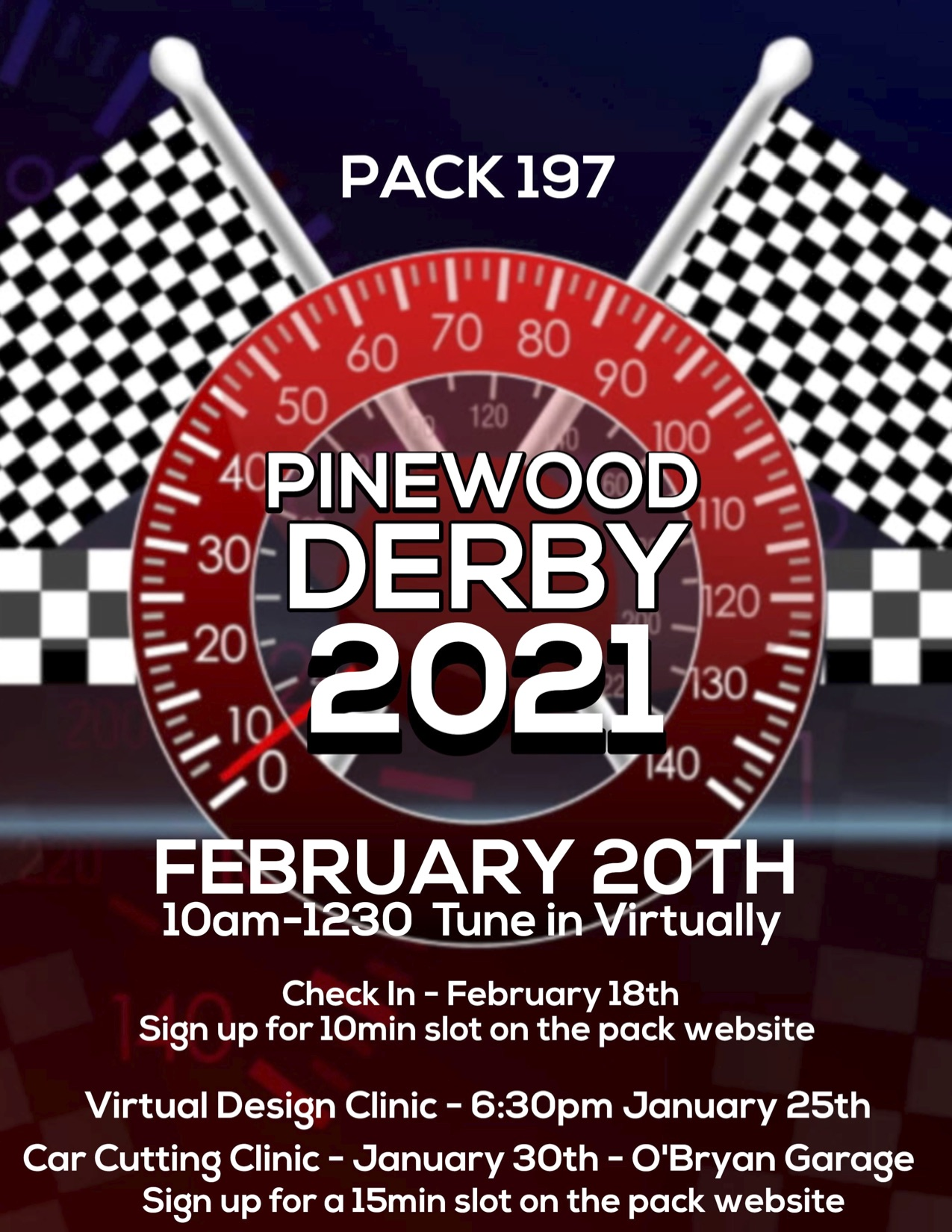 Pack 197 Pinewood Derby Car Clinic 2021